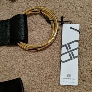 B-Low the Belt Accessories - B-Low the Belt Black Belt with Gold Rings